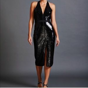 Halton Heritage sequin halter dress
